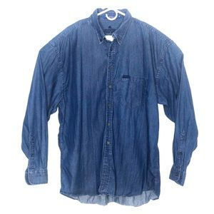 Pendleton men's denim button up shirt